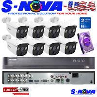 HIKVISION PIR HOME SECURITY KIT CCTV SYSTEM HD PIR 1080P ULTRA LOW LIGTH