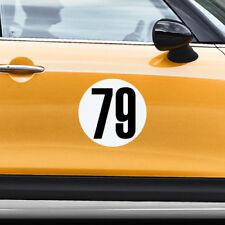 Magnet Race Rally Number Circle Racing Door Decal Custom Sticker Car Truck Van