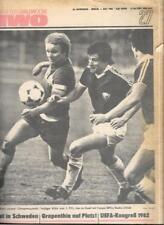 Die neue Fussballwoche-FUWO-DDR 1980..27/80 bis 53/84...26 x Wochenzeitungen