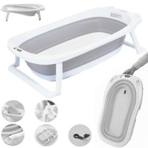 iSafe Flat Foldable Recline New Born Baby Bath - Light GREY (New)