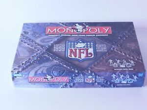 MONOPOLY NFL LIMITED EDITION 1999 GRID IRON BOARD GAME NEW box has some damage