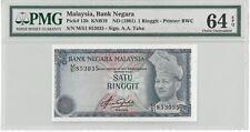 Malaysia 4th Series Rare Governor Signature $1 Ringgit PMG64 EPQ Paper Banknote