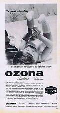 PUBLICITE ADVERTISING 015 1965 OZONA vêtement création pour bébé