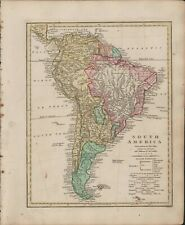South America 1806 Map Robert Wilkinson. Hand Coloured. Colonies.  B11.20