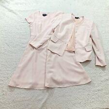 pendleton womens Dress Suit Pale Blush Pink Blazer A Line Above Knee Size 10p