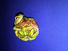Harmony Kingdom Artist Neil Eyre Designs  FROG ON STRAWBERRY #2