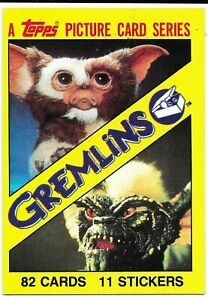 Gremlins Trading Cards You Pick #2 To 81 and #S1 to 11 Topps 1984