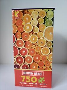 Ceaco 750 pc 21 x 21 Brittany Wright Citrus Puzzle & Poster (2018) ***NEW***