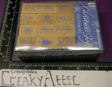 FLOWERS FREE WAX WAFERS Hampton Art Classy Classics Peg Rubber Stamp Set
