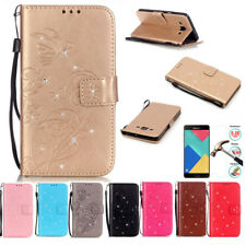 Embossed Magnetic Flip Cover Stand Wallet PU Leather Case For Samsung Cell Phone