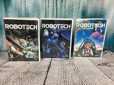Robotech DVDs 1, 2, E1 Macross Saga First Contact Transformation Elements LOT