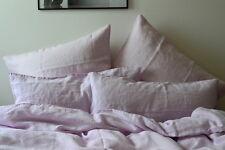 Lino conjunto de ropa de cama, rosa, 220x 240 CM, 2 stk. 80x 80 CM, Stone Washed