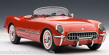 1954 CHEVROLET CORVETTE RED 1:18 AUTOART #71082 BRAND NEW IN BOX SALE AUCTION
