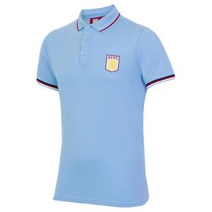 Aston Villa Polo Shirt Men's Football AVFC Tipped Polo Shirt - New