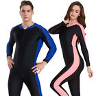 Womens Mens Anti-Uv Diving Suit One-Piece Swim Sunscreen Wetsuit Surf Snorkeling