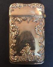 Antique Gold Plated/flash Match Safe Vesta EUC No Monogram!!! Scroll Flowers