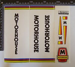 OLD MOTORHOUSE CYCLES MOTORCYCLES SHOP ADVERTISING PROMO STICKER DECAL