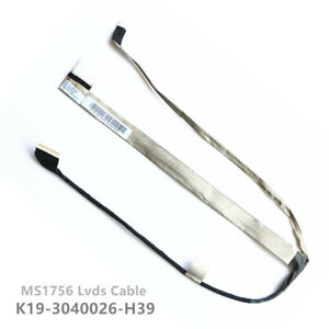 MS1756 K19-3040026-H39 MSI GE70 MS-1756 MS-1757 Lcd Lvds Cable