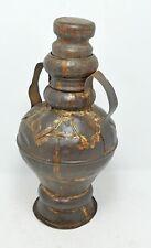 Antique Iron Water Pot Original Old Hand Crafted Kitchenware Storage Bottle