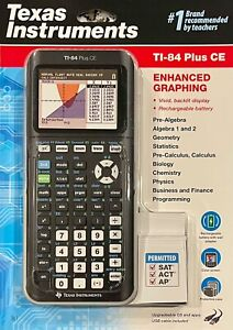 Texas Instruments 📚TI-84 Plus CE📚 - Color Graphing Calculator - Black - *NEW*