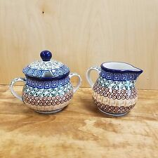 Polish Pottery ~ Sugar & Creamer - Autumn