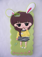 Iphone 6 3D Cute Sweet Girl Green Soft Silicone Gel Case Cover Apple