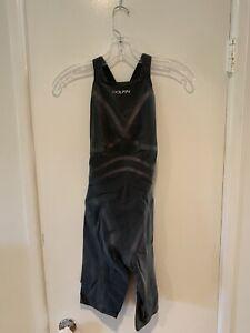 PRICE DROP Dolfin Lighstrike Tech Suit Closed Back Size 28 Brand New Metallic!