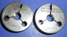 Pratt & Whitney 7/16-28 UNEF 2A Thread Go-No Go Gages - PD .4132 go /.4096 no-go
