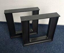 2er Set Bankbeine Doppel T 80x46 Bankkufen Design Tischkufen  Bankgestell