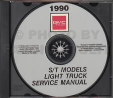 1990 GMC S15 Pickup and S-15 Jimmy Shop Manual on CD-ROM Truck Repair Service