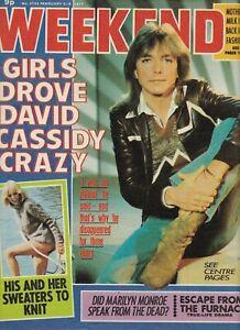 David Cassidy/The Partridge Family Weekend Magazine Feb2-8 1977 UK Import