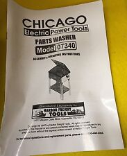 Chicago Electric Power Tools 20 Gallon Parts Washer Model 07340