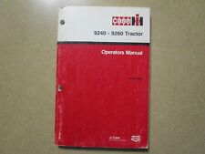 Case Ih 9240 9260 4Wd tractor owners & maintenance manual