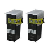 2PK Ink Cartridges For Lexmark 100xl Black 105xl 108xl S301 302 305 S405 409