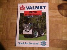 Werbeblatt Valmet Traktoren Serie Mezzo mit Schlang und Reichart Forsttechnik