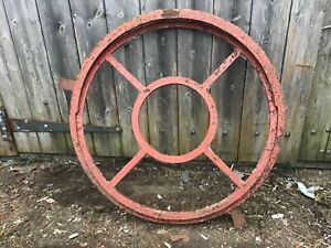 Round Window frame industrial  -circular cast iron with opener 65cm across