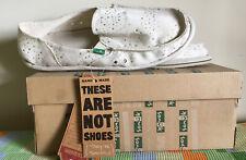 SANUK Womens -scarpe Misura 10/41 - Bianche Nuove Star Dust
