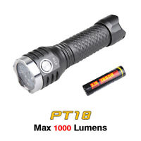 MecArmy PT18 Cree XP-G2 LEDs USB Rechargeable Compact Flashlight Torch + Battery