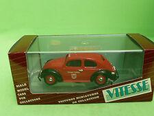 VITESSE FEUERWEHR  407   BEETLE   VW VOLKSWAGEN  KAFER  RED - BLACK
