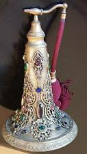 Rare 1920's Jeweled Antique LRG Empire Art Gold Perfume Bottle Atomizer ormolu
