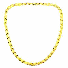 Stainless Steel Magnetic Necklace Gold Plated DR-5110