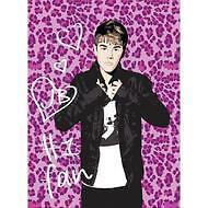"Justin Bieber Rose/Pink Leopard Royal Plush Mink Blanket Twin Size 60""x80"