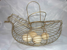 Metal Wire Chicken Farm Egg Collector Basket
