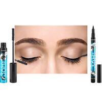 4D Silk Fiber Eyelash Mascara Magic Black Makeup Eyelash Volume-Waterproof I1A4