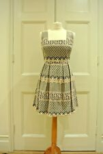 PARASOL Beige & Black,Fit & Flare/ Rockabilly/ Wedding Guest, Lace Dress, Size L