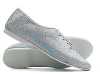 Ladies Girls Silver Glitter Hologram Full Sole Jazz Dance Shoes All Sizes Katz