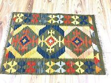 Vintage Grey Multi Afghan Handmade Nomadic Chobi Wool Kilim Rug 65x95cm 60 off