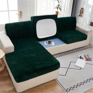 Elastic Plüsch Samt Sofa Sitzbezug Schonbezug Couch Möbel Protector L Form