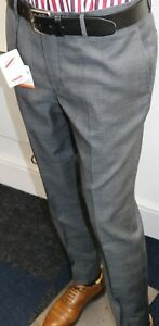 Hackett of London Suit Trousers, Grey with Blue Contrasting Stripe