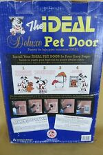 "Ideal Pet Products Deluxe Aluminum Pet Door Xl 10.5"" x 15"" w/ Telescoping Frame"